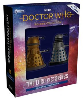 Doctor Who Figurine Collection Time Lord Victorious Dalek Emperor & Drone Set Eaglemoss